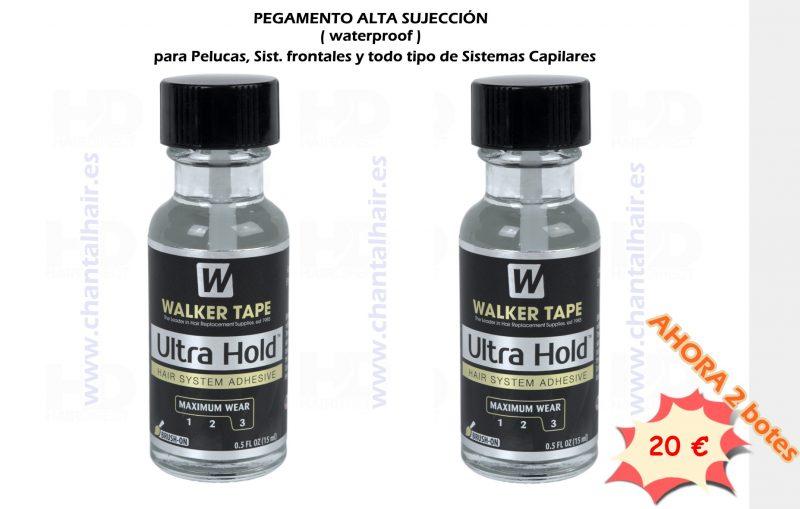Adhesivo Ultra Hold walker tape para prótesis pelucas de larga duración resistente al agua y al sudor. PEGAMENTO HIPOALERGENCIO INDICADO PARA TODO TIPÒ DE SISTEMAS CAPILRES, PELUCAS, PRÓTESIS CAPILRES Y SISTEMAS FRONTALES. AHOR OFERTA ===> 2 BOTE CASI POR EL PRECIO DE 1 . OFERTA DE 2 BOTES de Adhesivo ULTRA HOLD máxima duracion e imperbeable chantalhair