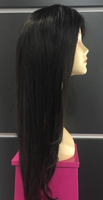 peluca de pelo natural virGen larga wave chantal hair peluca lace frontal PELUCAS PERSONALIZADAS MADRID CHANTAL HAIR SOLO PELO NATURAL PELUCA FRONTAL LACE LISA DE PELO NATURAL