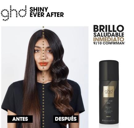 ghd shiny ever after - spray potenciador de brillo chantal hair tienda oficial ghd españa solopelonatural